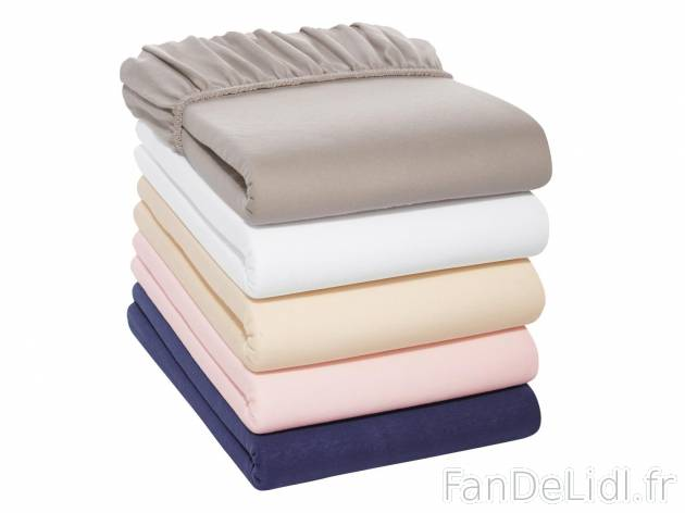 drap housse en jersey chambre a coucher fan de lidl fr. Black Bedroom Furniture Sets. Home Design Ideas
