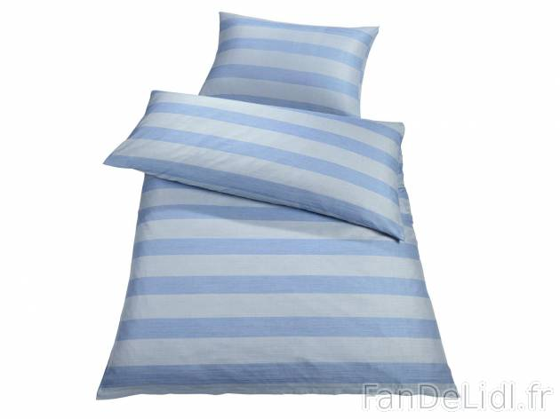 Parure de lit en chambre a coucher fan de lidl fr - Parure de lit en lin ...