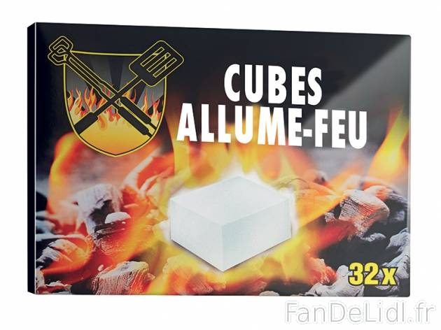 32 cubes allume feu produits alimentaires fan de lidl fr. Black Bedroom Furniture Sets. Home Design Ideas