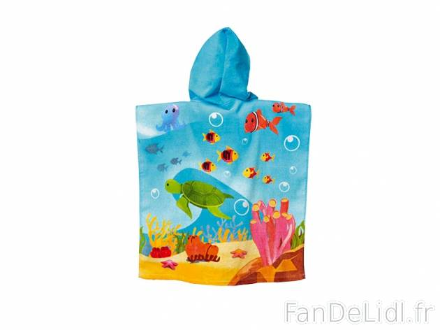 poncho de bain enfant pour enfants fan de lidl fr. Black Bedroom Furniture Sets. Home Design Ideas
