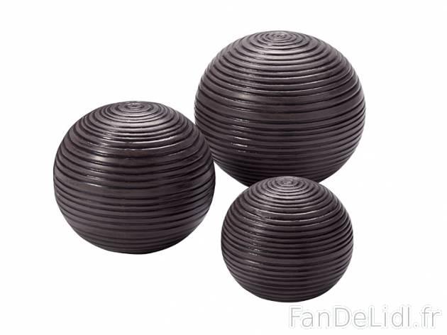 Boule ceramique pour jardin boule metal deco jardin | Maisondours