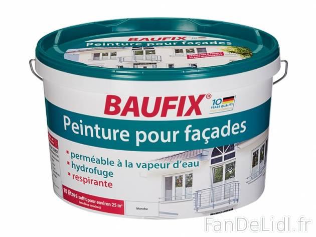 Peinture pour fa ades bricolage outils fan de lidl fr for Peinture baufix