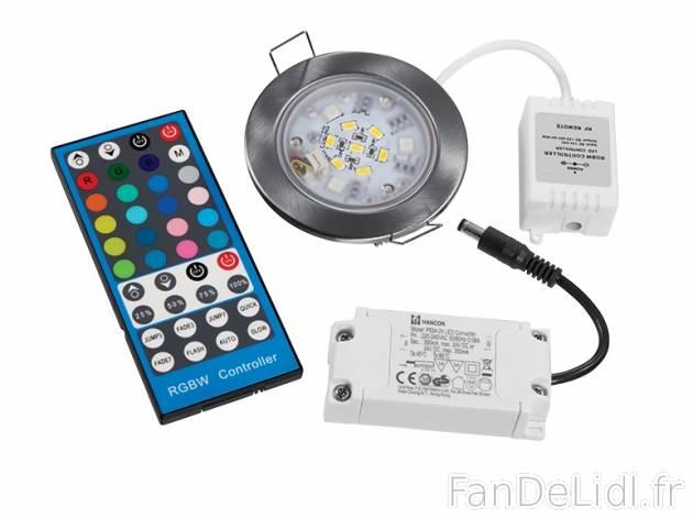 Spot encastrable bricolage outils fan de lidl fr - Spot led telecommande ...
