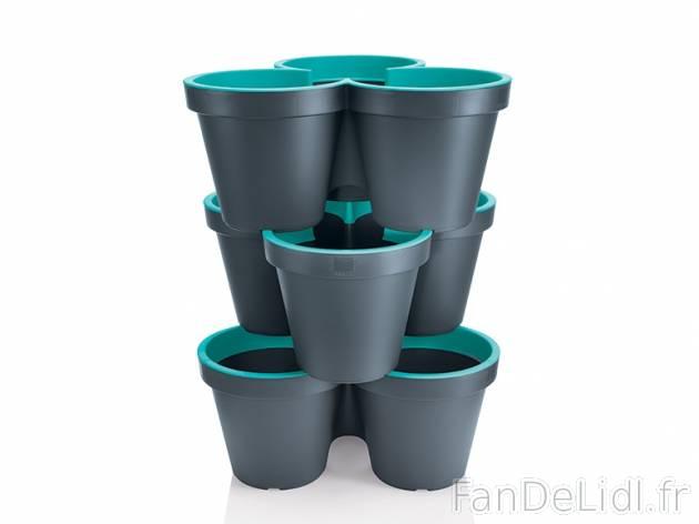 3 triples pots empilables