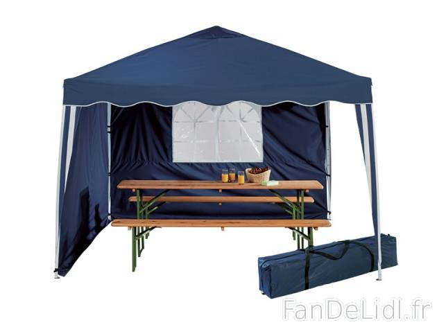 tonnelle pliable jardin fan de lidl fr. Black Bedroom Furniture Sets. Home Design Ideas