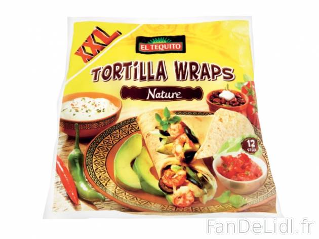 12 tortillas wraps nature , prezzo 1.49 € per 740 g, 1 kg = 2,01 € EUR. 