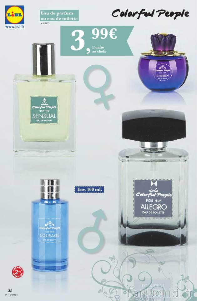eau de parfum produits m nagers produits de beaut fan de lidl fr. Black Bedroom Furniture Sets. Home Design Ideas