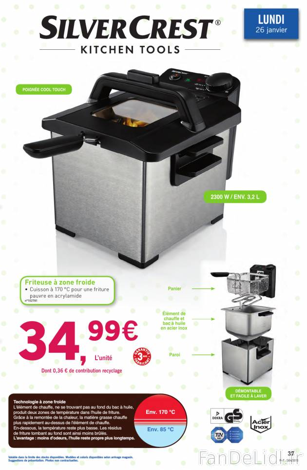 Friteuse 2 bacs lidl РPo̻le cuisine inox