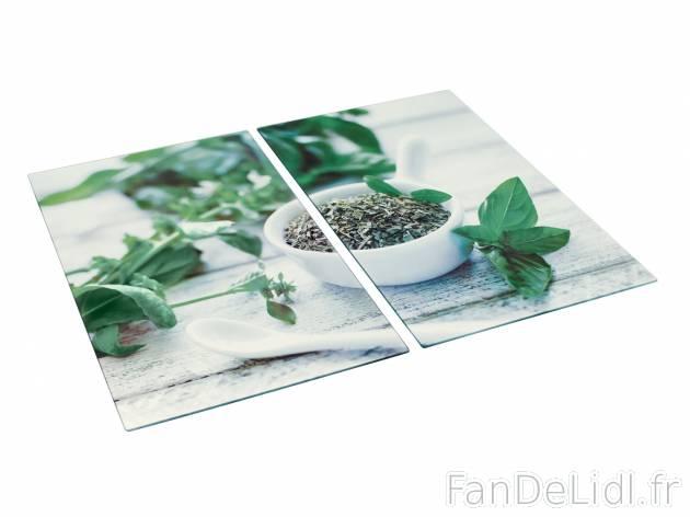 2 couvre plaques cuisson et cuisine fan de lidl fr for Plaque en verre cuisine