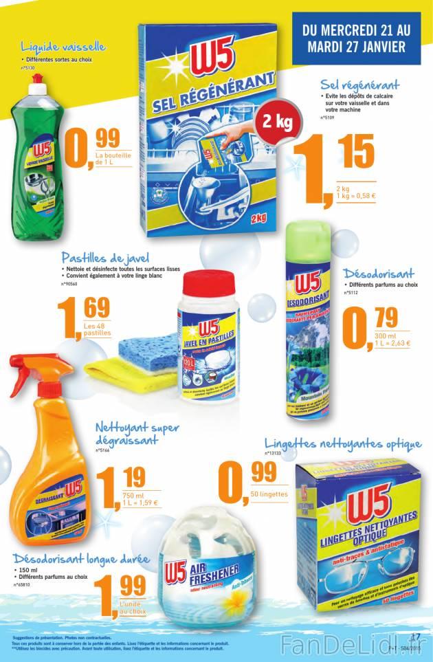 Catalogue Lidl avec produits de nettoyage, outils de bricolage du ...