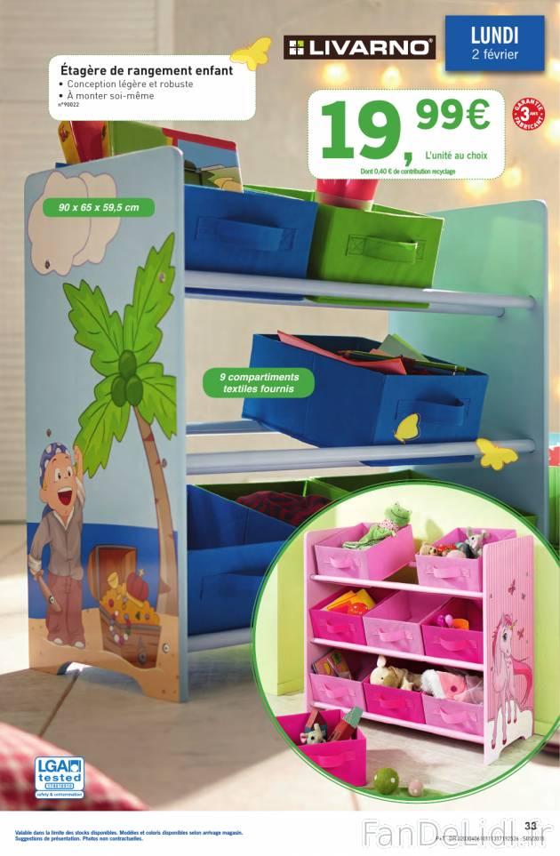 tag re de rangement enfant pour enfants fan de lidl fr. Black Bedroom Furniture Sets. Home Design Ideas